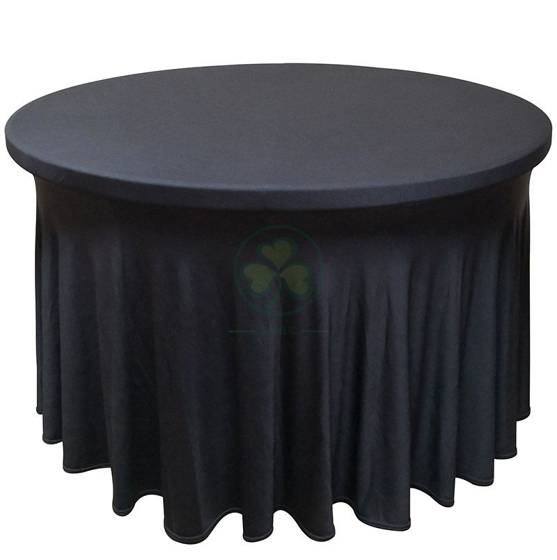 Elastic Wavy Spandex Round Table Covers for Sale SL-F1999WSTC