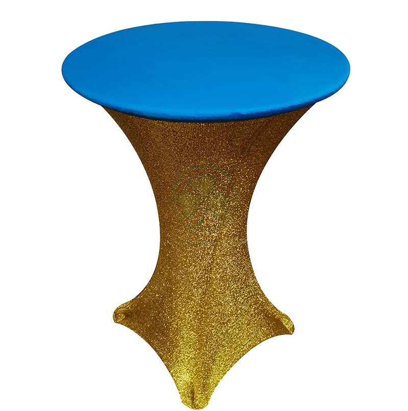 Custom Spandex Round Table Topper Stretch Table Cap For Weddings and Events Decoration SL-F2001SRTC