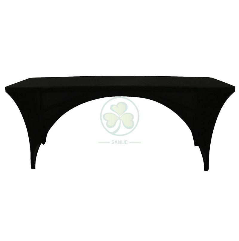 Custom Stretch Spandex Open Sides Rectangular Table Cover SL-F2003SORT