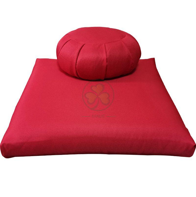 Popular Buckwheat Zafu and Zabuton Meditation Cushion Set Red SL-F2035ZZMC