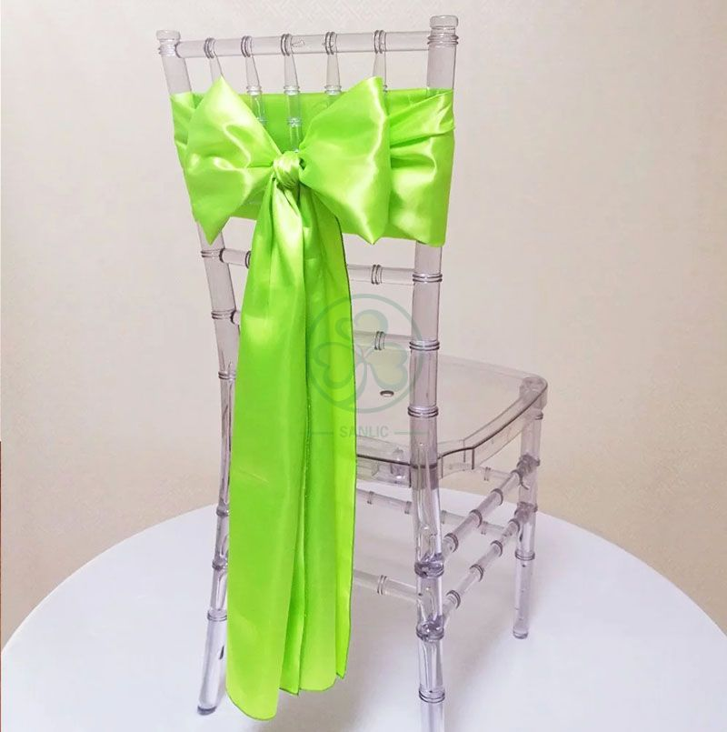 High Quality Satin Chair Sashes for Wedding Events Parties Decoration SL-F2041SCSD