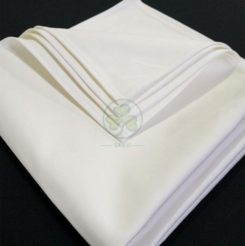 Wholesale Soft Premium Quality Cotton Dinner Napkins White Cloth Napkins Durable Hotel Quality Pre-washed SL-F2054QCTN
