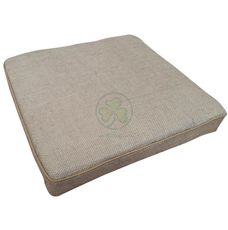 Hot Sale Vintage Burlap Cotton Linen Outdoor Deep Seat Patio Chair Cushions SL-F2068CLPC