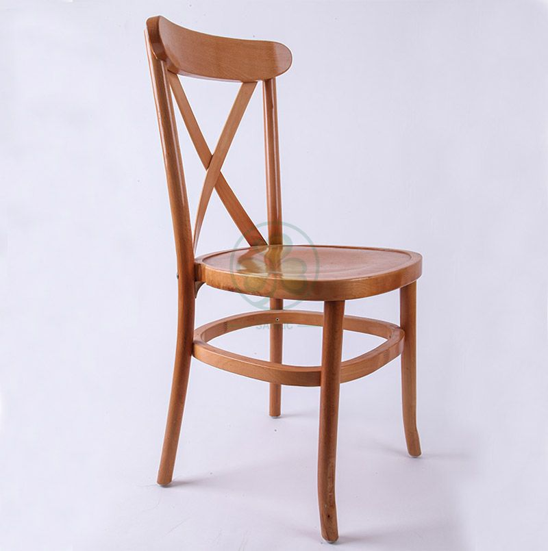 Hot Sale Natural Wooden Tuscan X-Back Dining Chairs  SL-W1835NWTC