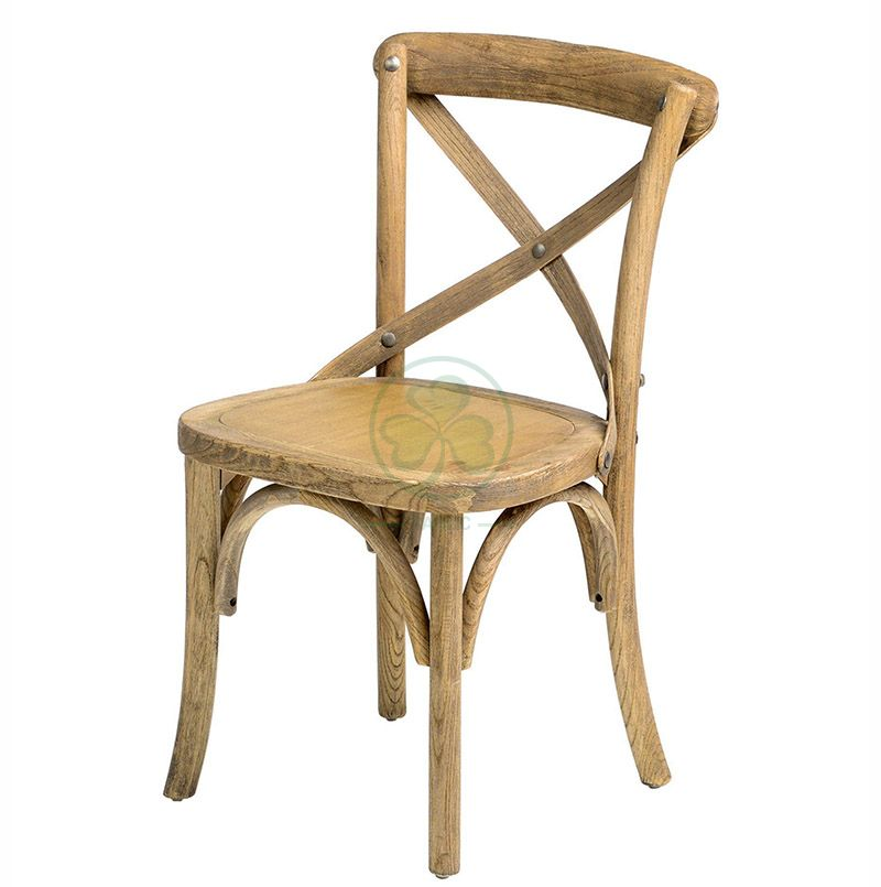 Cute Antique Wooden Crossback Chairs for Children's Parties SL-W1839WCCC