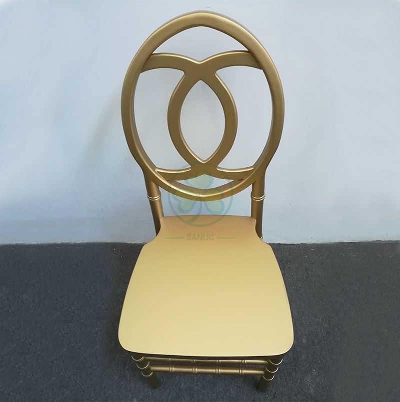 Gold Wooden Phoenix Chair with Fish-Shaped Chair Back SL-W1842WPFB