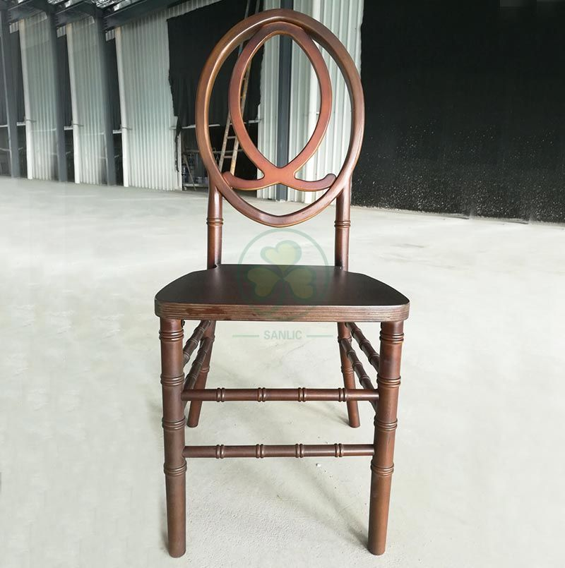 Bespoke Darkwood Wooden Phoenix Chair with Fish-Shaped Back SL-W1846DWPC