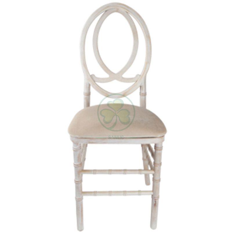 Hot Sale Limewash Wooden Phoenix Chair Fish-Shaped Back SL-W1847LWPC