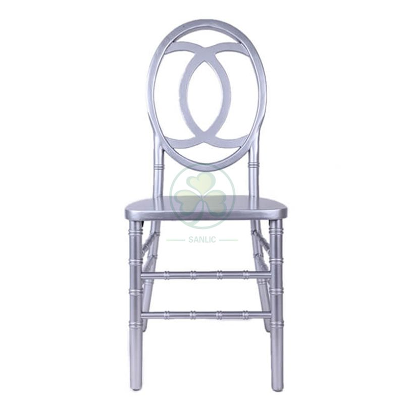 Direct Factory Silver Wooden Phoenix Chair Double C Back for Banquets Weddings and Events  SL-W1850SWPC