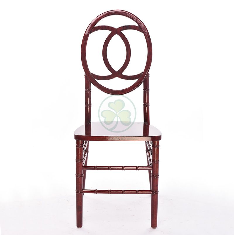 Mahogany Wooden Phoenix Chanel Back Chair for Weddings and Parties SL-W1852MWPC