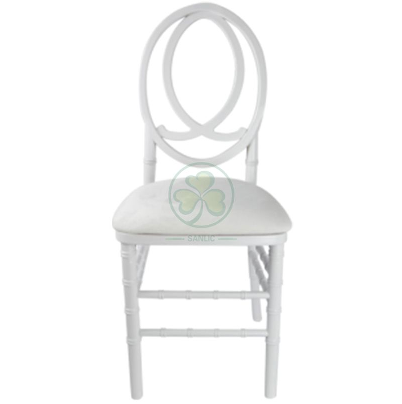 Factory Wholesale White Wooden Phoenix Chair Fish Back for Weddings Parties and Events SL-W1848WPFB