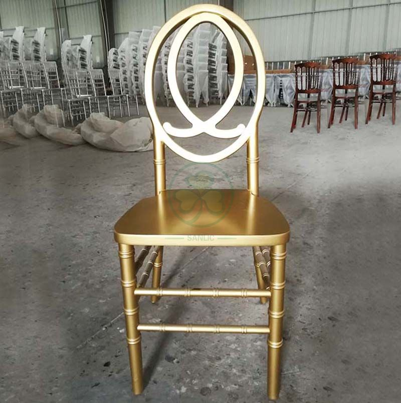 High Quality Gold Wooden Phoenix Chair with Fish Back for Banquets and Parties SL-W1855GWPC