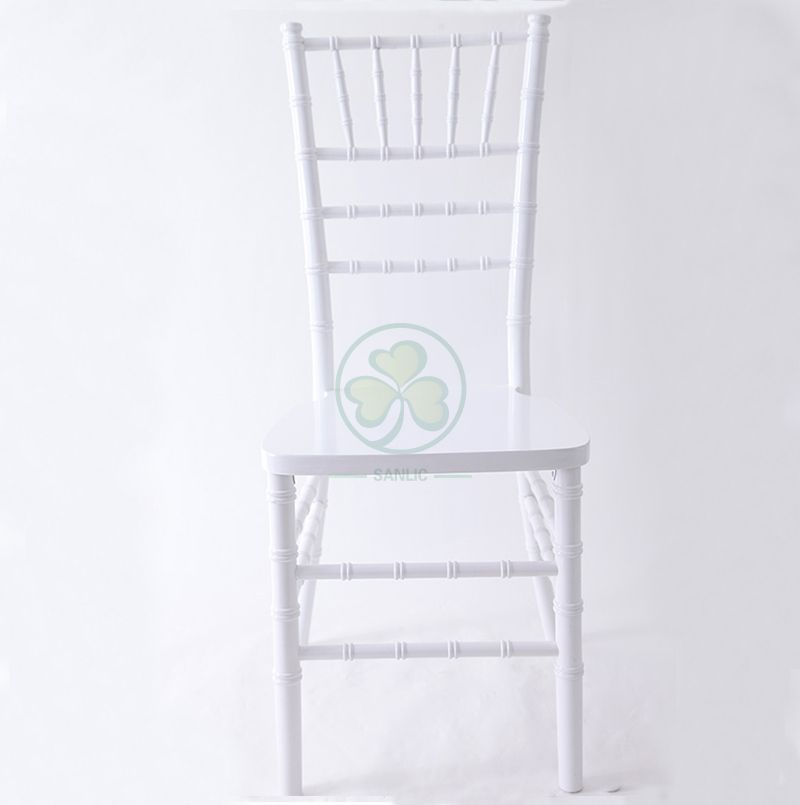 High Quality White Wooden Chiavari Chair for Sale for Outdoor or Indoor Weddings or Events US Style SL-W1858WWCC