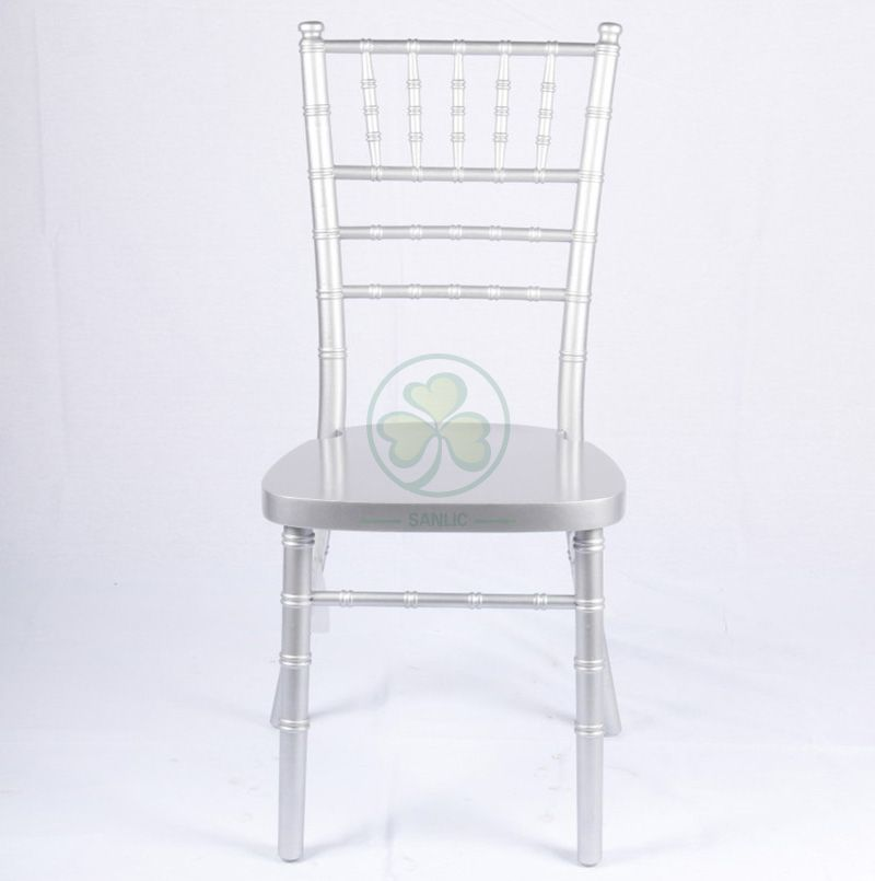 Factory Wholesale Silver Wooden Tiffany Chair UK Style for Event Rentals or Wedding Planner SL-W1864KSWC