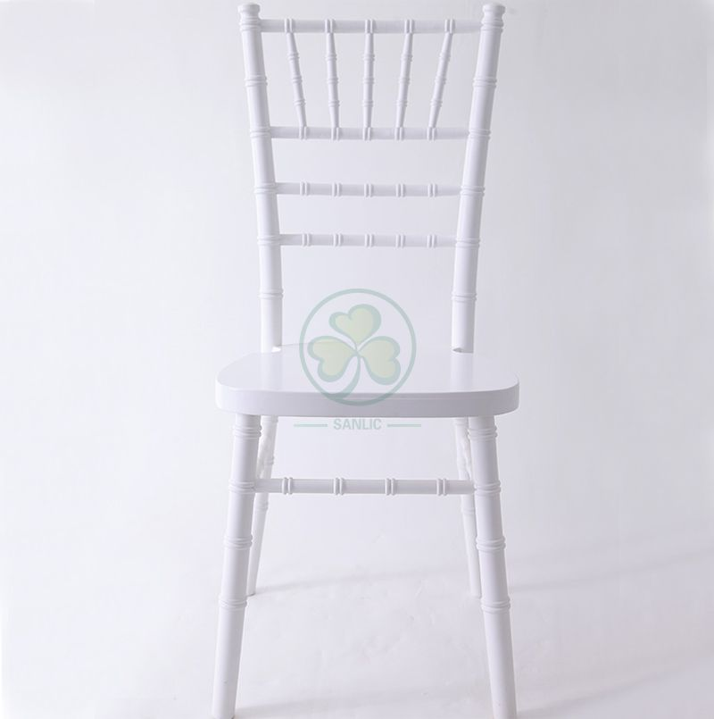 UK Style White Wooden Tiffany Chair for Weddings and Parties Hire China Factory SL-W1867WWCC