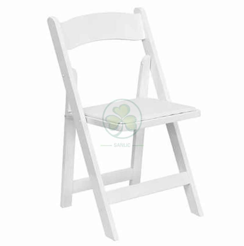 High Quality Wholesale White Foldable Wooden Chairs for Outdoor or Indoor Weddings Parties and Any Events SL-W1870WWFC