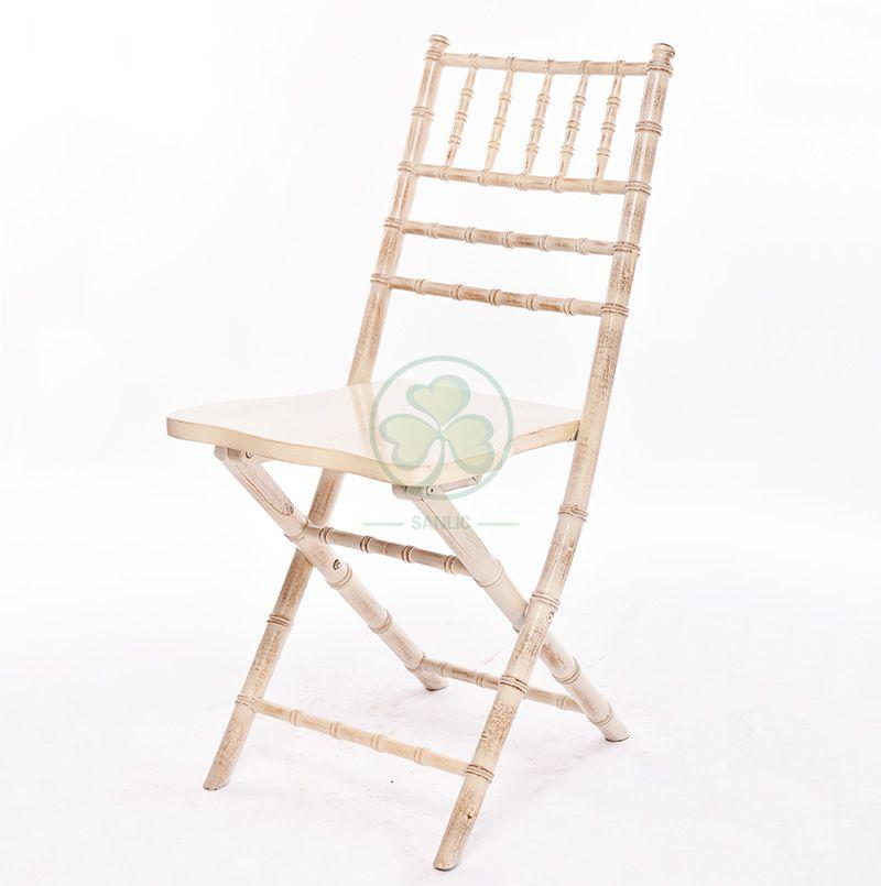 Limewash Wooden Foldable Chiavari Chair for Beach Celebrations or Weddings SL-W1875WFCC