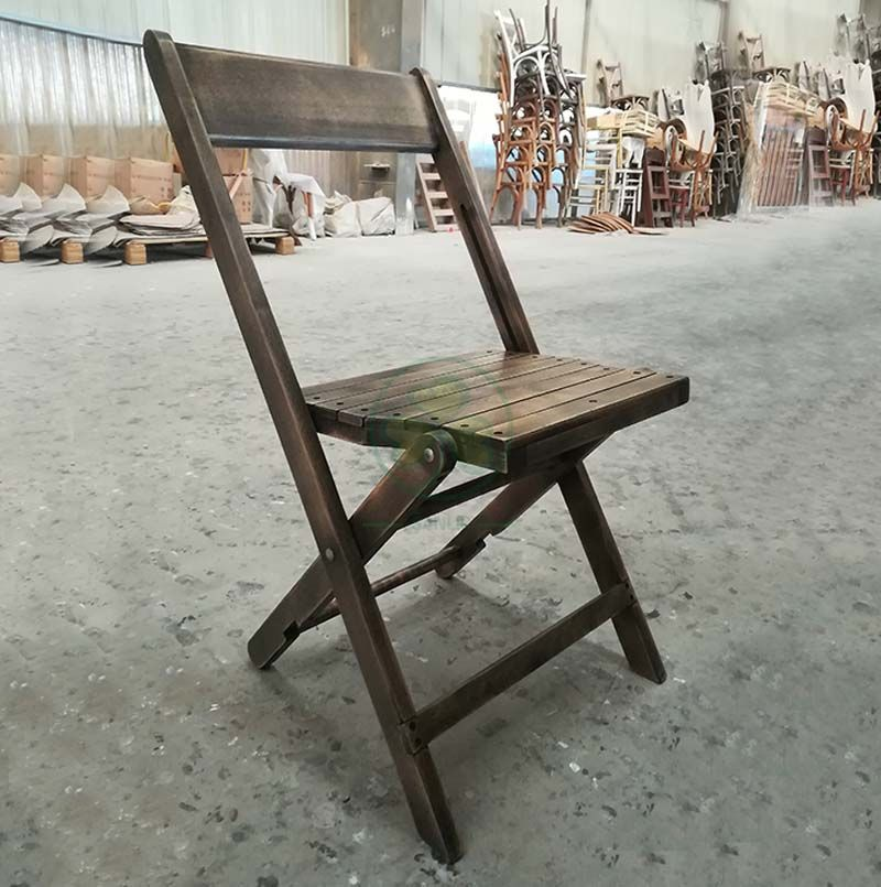 1942 Antique Wooden Folding Chair Beechwood Vintage Folding Chairs for Weddings Graduations or Funerals SL-W1878AVFC