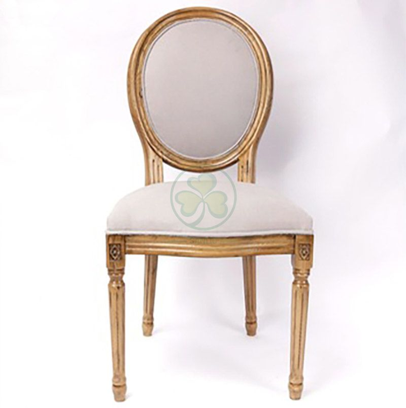Most Popular French Style Wooden Louis Dining Chair with Fabric Seat and Back for Hotels Resturants and Indoor or Outdoor Weddings Events SL-W1895WLCF