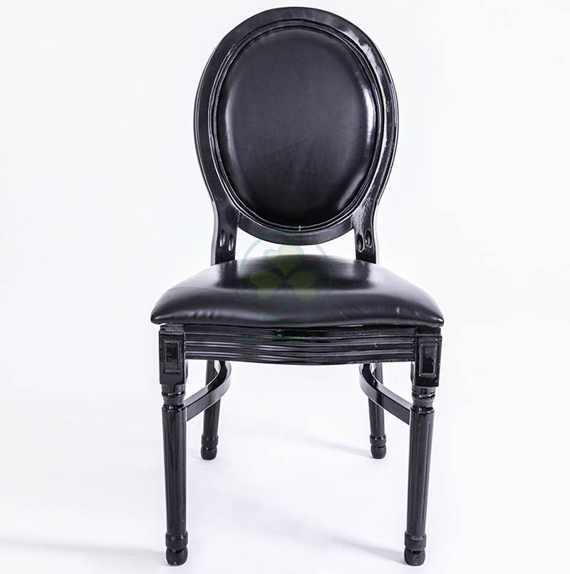 Factory Wholesale Wooden Louis Dining Chair PU Seat and Back for Different Occasions SL-W1897WLCP