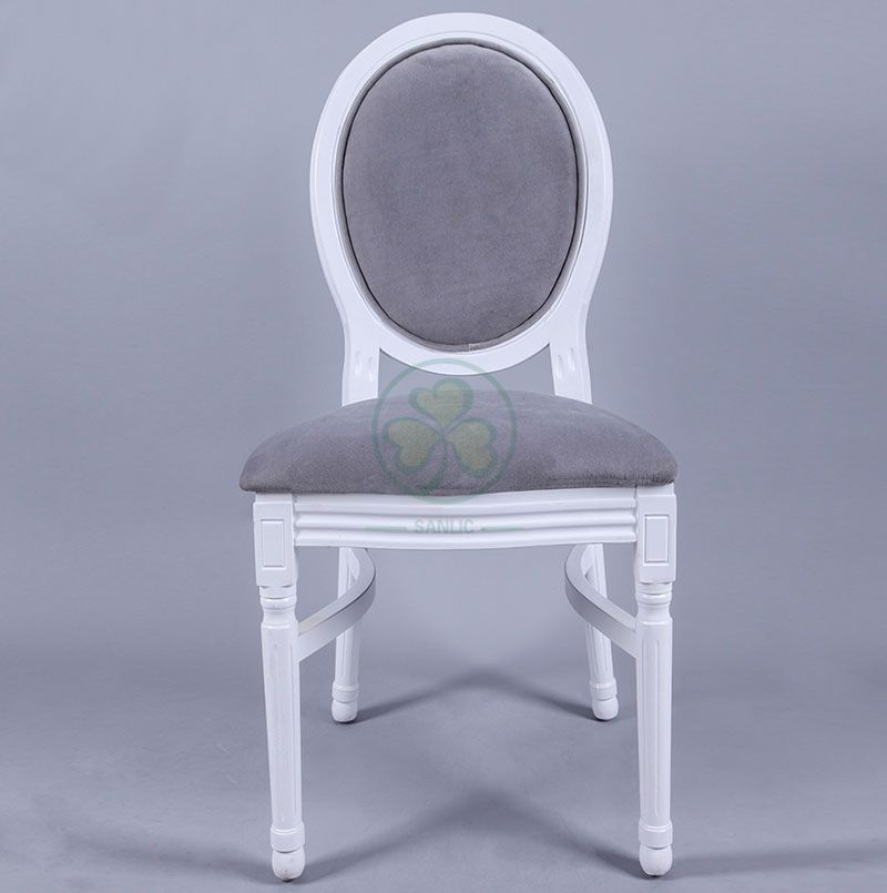 High Quality French Wooden Louis Velvet Back Dining Chair for Hotels Cafes Resturants and Social Events SL-W1898WLVB
