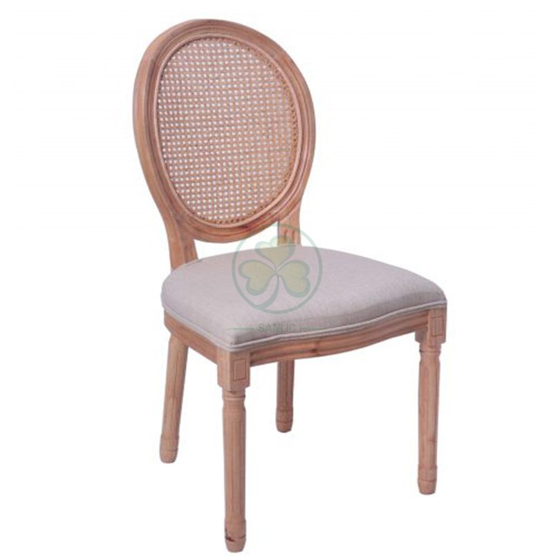 Bespoke French Style Wooden Louis Cane Back Dining Chair for Outdoor or Indoor Events SL-W1899WLCC