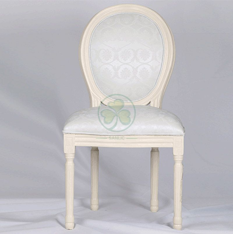 Customized French Style Wooden Louis Dining Chair with Jacquard Fabric Seat and Back for Hotels Resturants or Various Events SL-W1900WLDJ