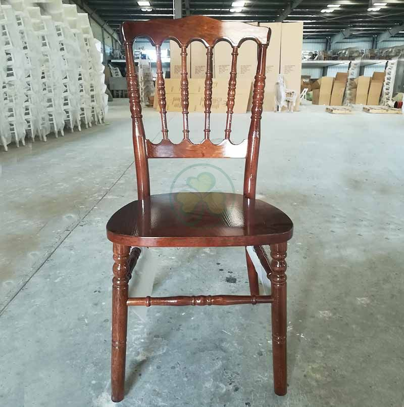 Customized Darkwood Wooden Napoleon Chair for Weddings and Events SL-W1903CWNC
