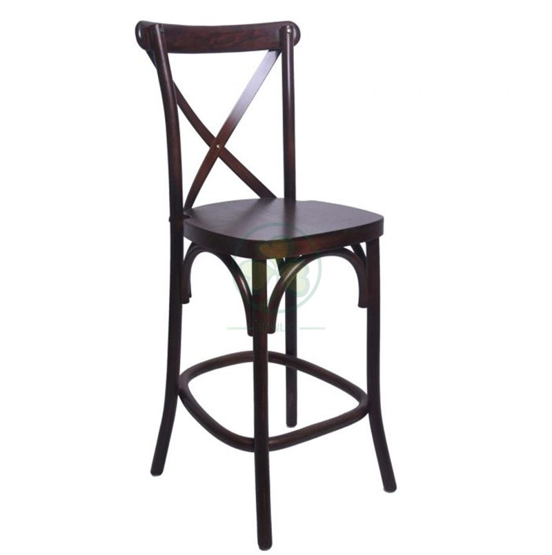 Stackable Wooden Cross Back Counter Stools for Outdoor Parties and Events SL-W1915SWCCS