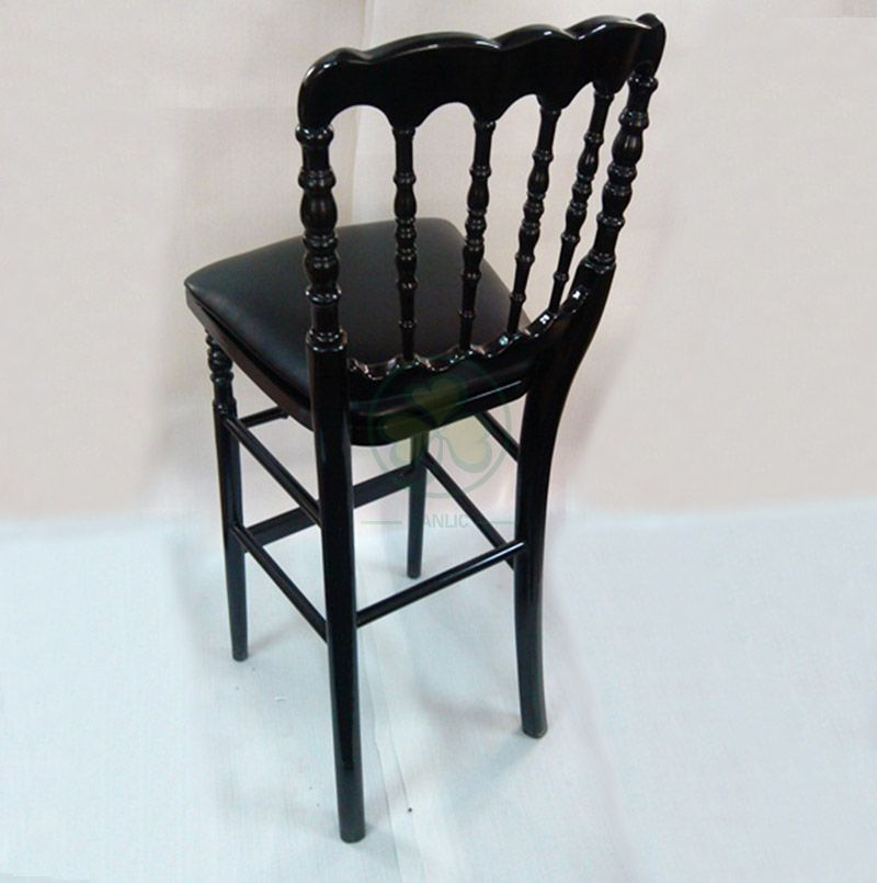 Black Deluxe Wooden Napoleon Counter Height Stools SL-W1918WNCS
