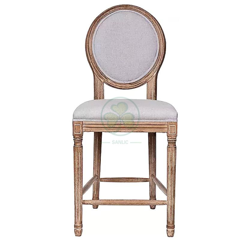 Wholesale Upholstered Wooden Louis Bar Stools SL-W1925WLBS