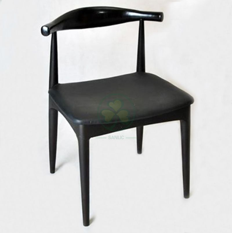Factory Wholesale Wooden Frame Upholstered Cow Horn Chair SL-W1939UCHC