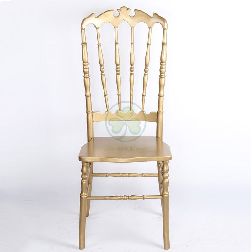 Factory Wholesale Wooden High Back Royal Dining Chairs for Weddings Parties and Various Events Type A SL-W1946WHBC