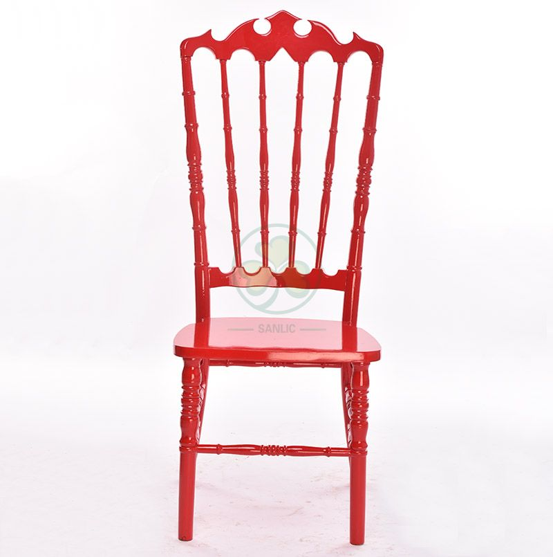 Customized Red Wooden VIP Royal Wedding Chairs Type A SL-W1947RWVC