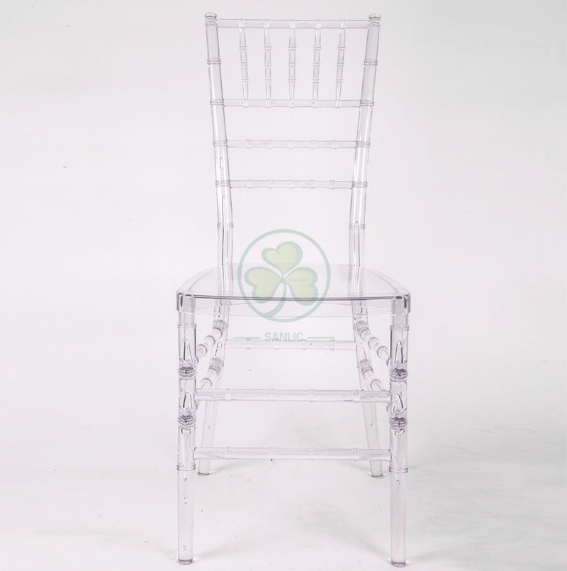 Modern Transparent Polycarbonate Resin Chiavari Chair for Indoor or Outdoor Events and Weddings SL-R1954TRCC
