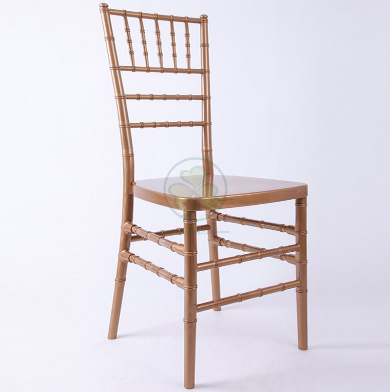Hot Selling Strong Gold Plastic Chiavari Chair for Various Events Parties and Weddings SL-R1956GPCC
