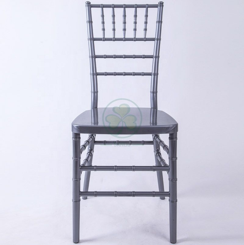 Factory Wholesale Polycarbonate Resin Chiavari Chair Silver for Banquets Hotels and Catering Services SL-R1960PRCC