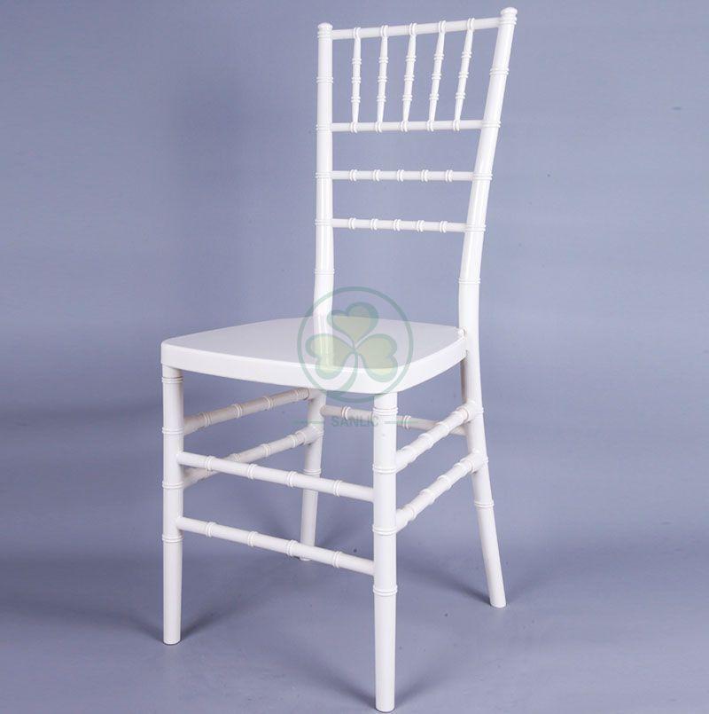Custom Ivory Resin Chiavari Chair for Weddings Parties and Banquets SL-R1963CRCC