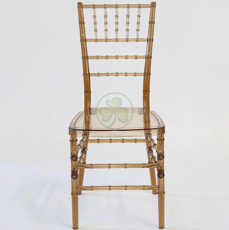 Elegant Transparent Tawny Plastic Chiavari Chair for Different Events Occasions SL-R1968TPCC