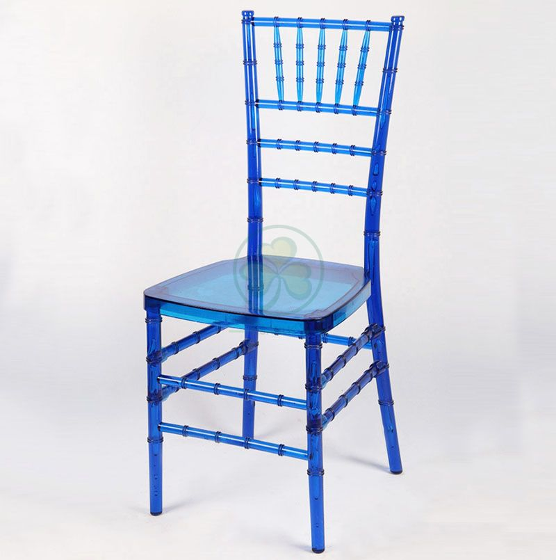 Beautiful Crystal Blue Resin Chiavari Chair for Banquets Events and Weddings SL-R1970CBRC