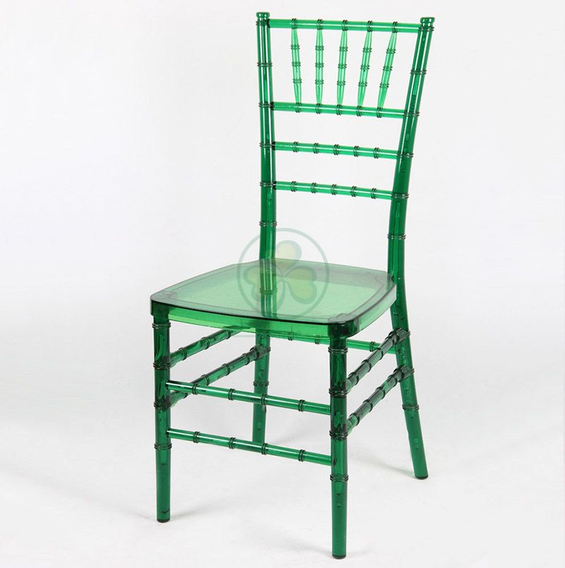Factory Price Crystal Green Plastic Tiffany Chair for Various Social Events and Celebrations SL-R1971GRCC
