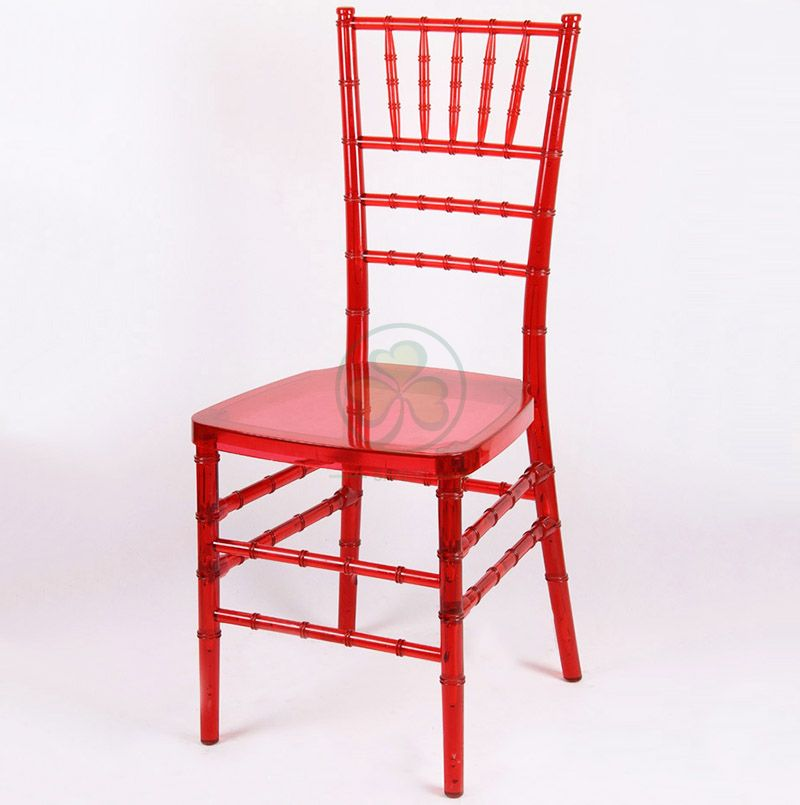 Hot Sale Crystal Red Resin Chiavari Chair for Weddings Banquets and Events  SL-R1971CRTC