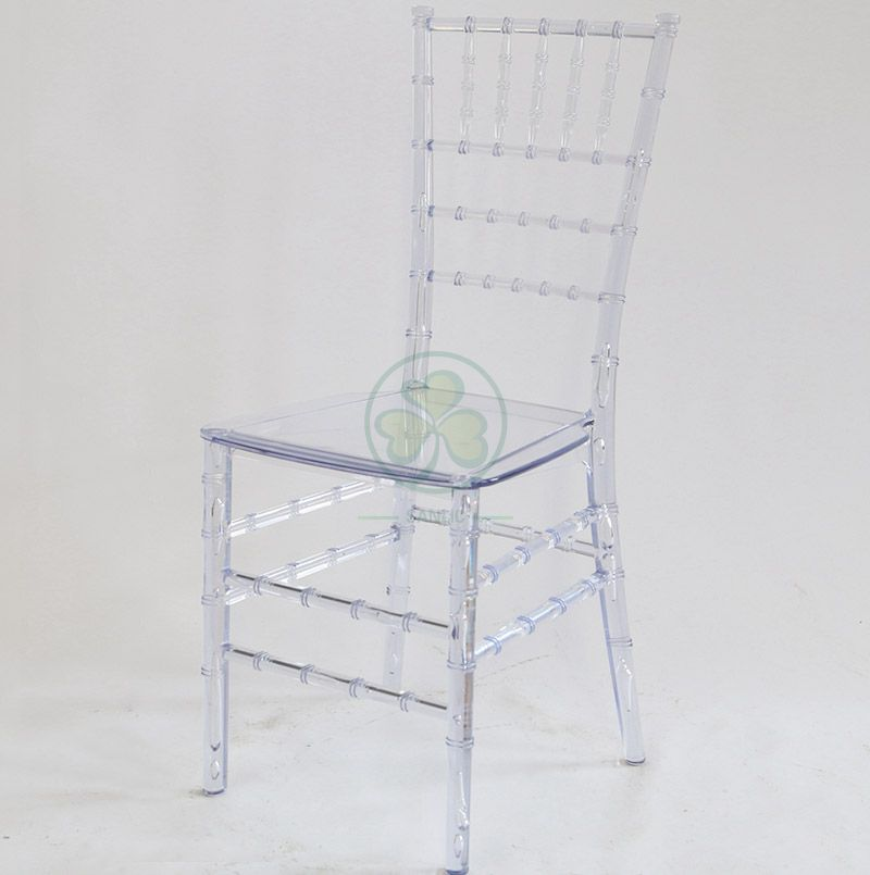 Banquet Clear Resin Monoblock Chiavari Chair for Different Celebrations SL-R1976RMCC