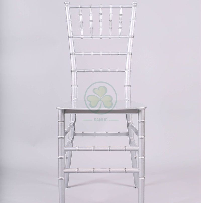 High Quality Silver Resin Monoblock Chiavari Chair for Indoor or Outdoor Social Events SL-R1980SMRC