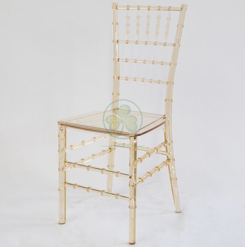 Hot Sale Wedding Resin Monoblock Tiffany Chair Crystal Amber SL-R1981RMTC