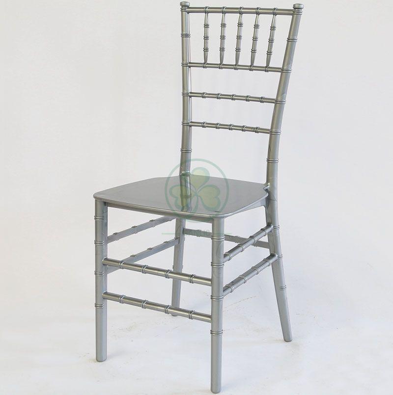 Best Popular Silver Gray Monoblock Resin Chiavari Chair SL-R1982GMRC