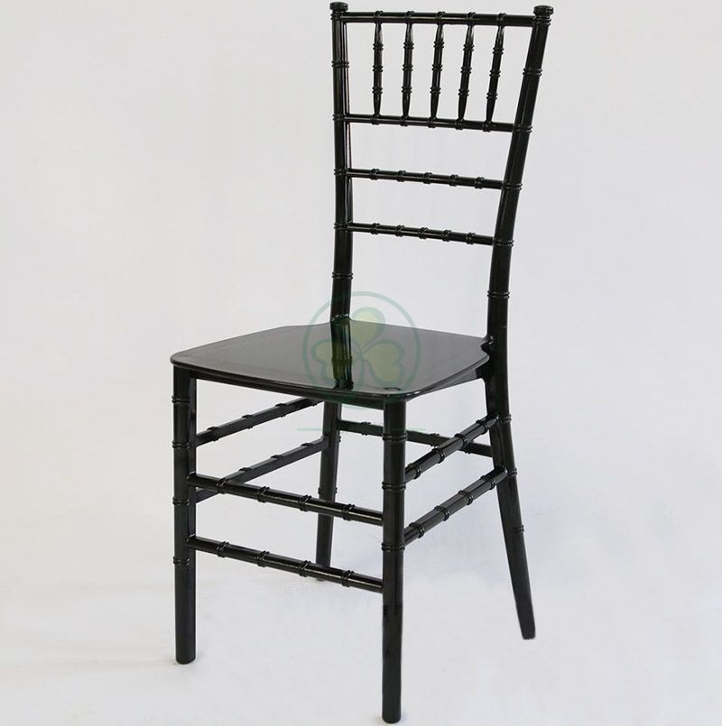 Stackable Black Monoblock Plastic Tiffany Chair for Various Occasions SL-R1983BPTC