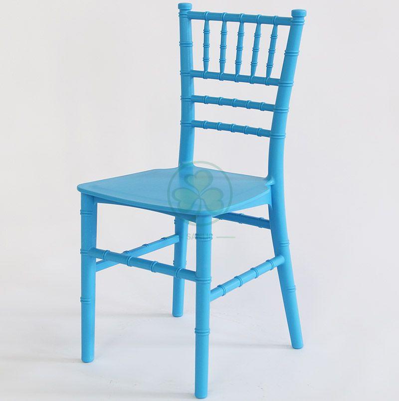 Blue Monoblock Kids Resin Tiffany Chair for Kids Parties SL-R1985KRTC
