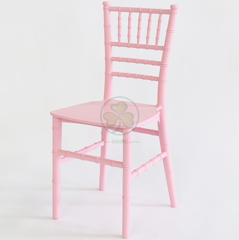 Strong Stackable Pink Monoblock Kids Resin Chiavari Chair for Birthday Parties SL-R1986MPRC