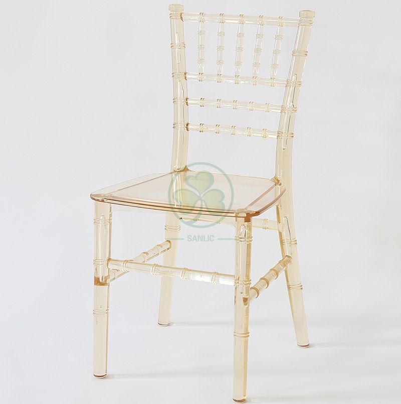Monoblock Kids Crystal Amber Resin Tiffany Chair for Parties and Receptions SL-R1988MART